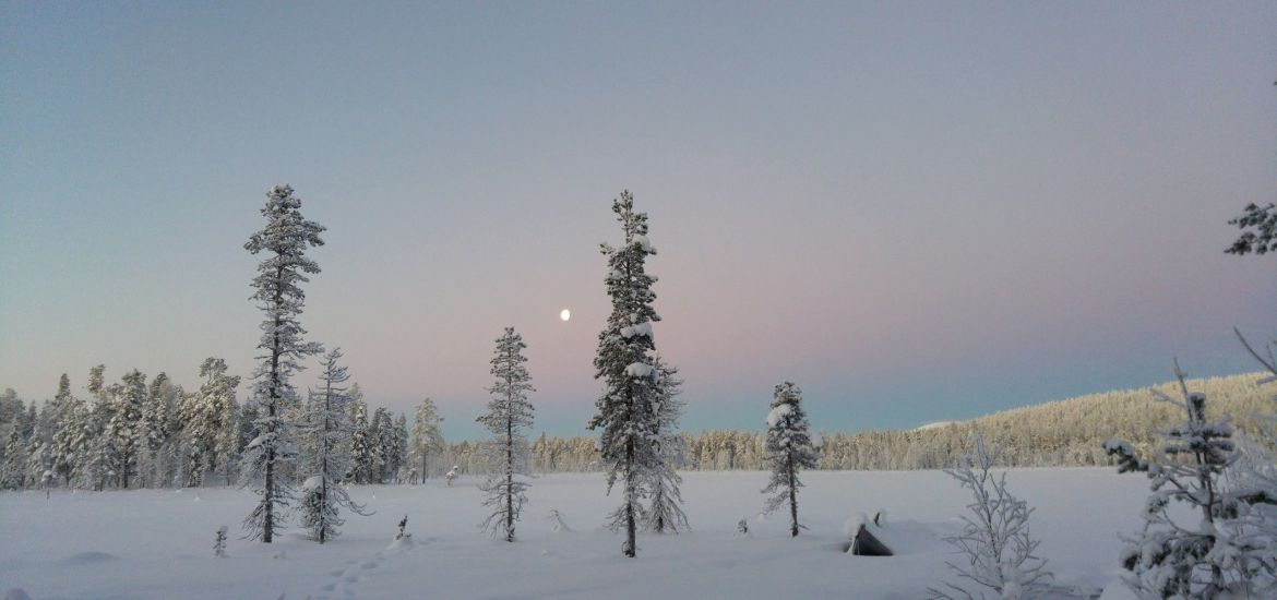 Kaamos in Lappland