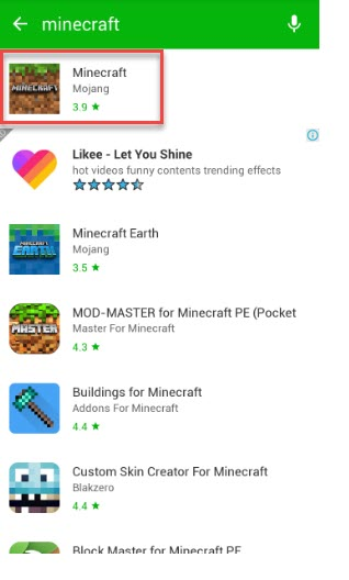 Install Minecraft For Free on Android