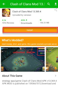 Hack Clash of Clans on Android