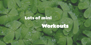 20160703 lots of mini workouts