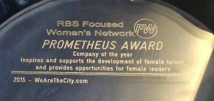 We are awarded company of the year by RBS Focused Women
