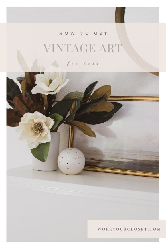 vintage art for less / work your closet