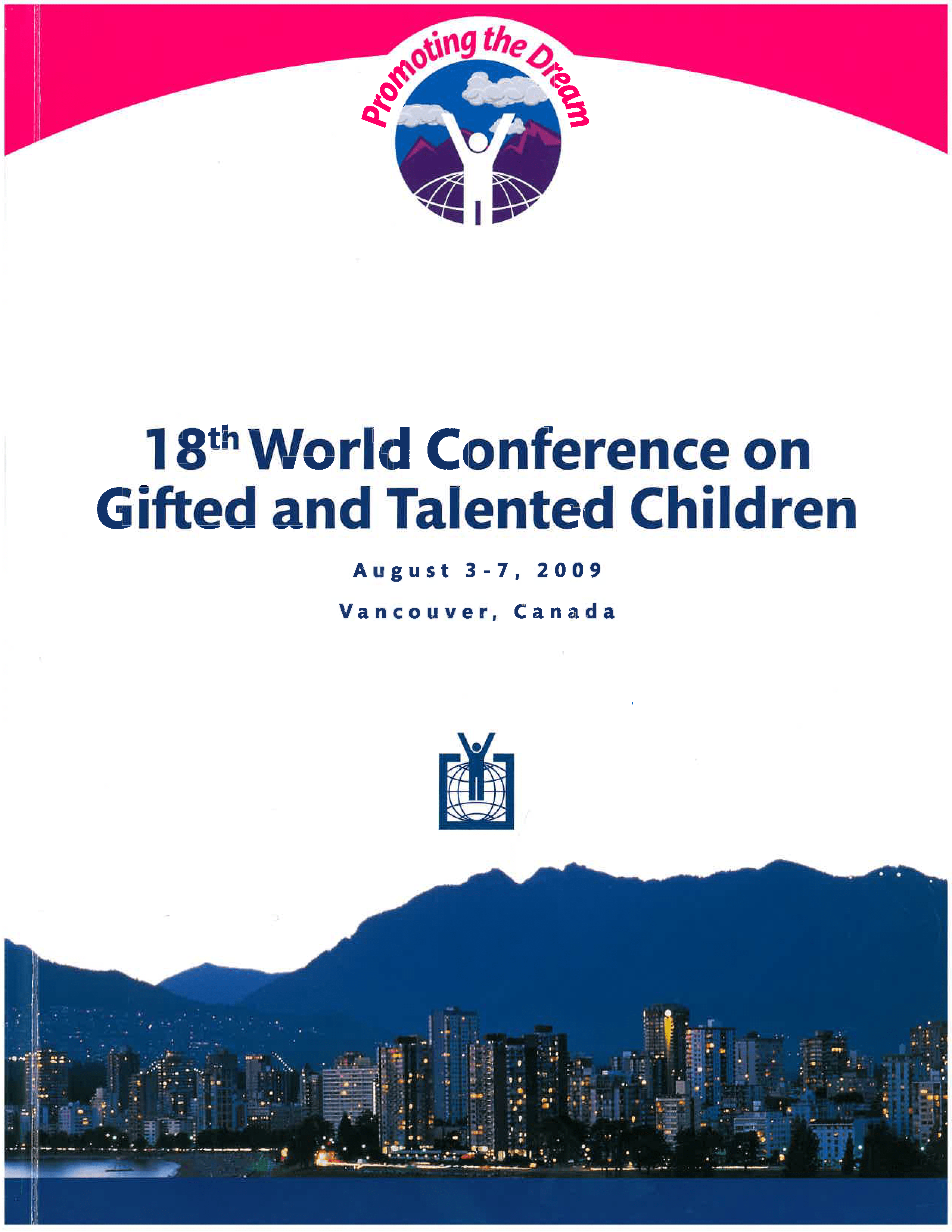 2009 World Conference Program Cover Vancouver Canada