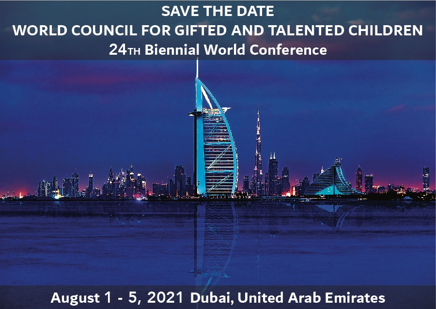 2021 WCGTC World Conference - Dubai, United Arab Emirates, Hamdan Foundation - World Council for Gifted and Talented Children