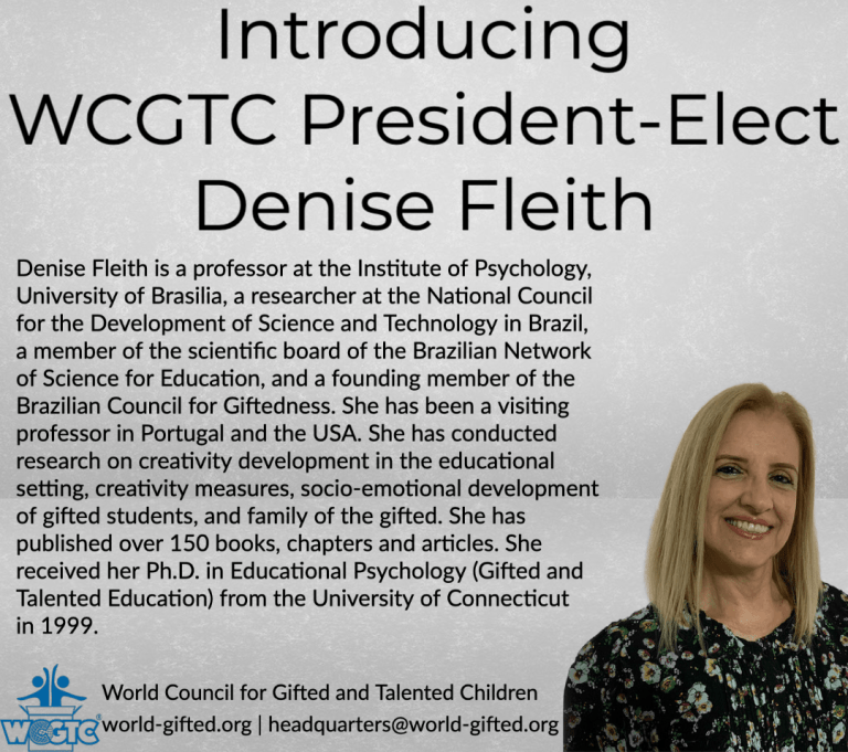 Denise Fleith - World Council for Gifted and Talented Children - President-Elect
