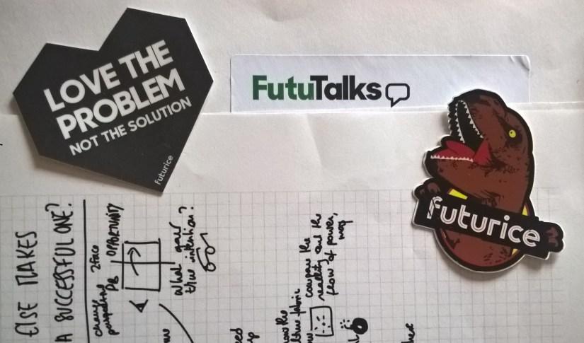 Sticker Futurice post