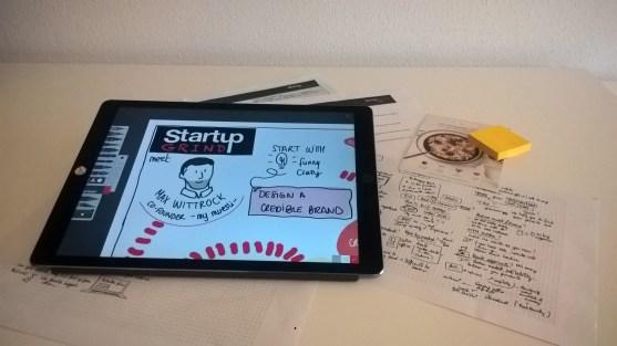 Sketchnotes Startup grind
