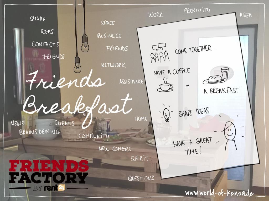 visual notes Friendsfactory Frühstück Werbung