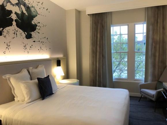 King room at the Kimpton Lorien Hotel & Spa