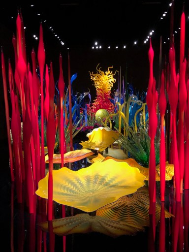 A Whirwind Tour of Seattle: Gallery in the Chihuly Garden and Glass.