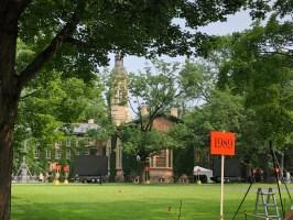 Back of Nassau Hall, prior to the P-rade.