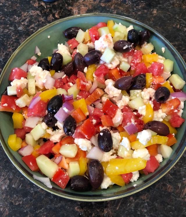 World Oyster Kitchen: Watermelon Greek Salad Recipe