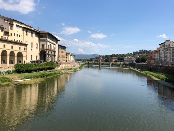 Three Days in Florence, Italy:  View of the Arno River from the Ponte Vecchio