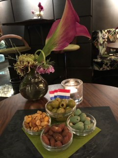 Bar snacks at the Hotel Estheréa in Amsterdam