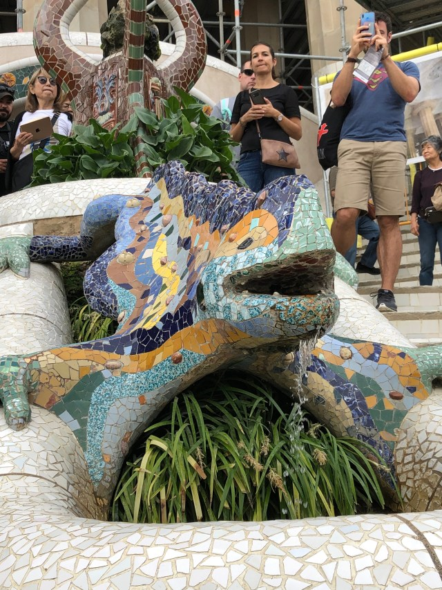 Best Things to Do in Barcelona:  See the famous Gaudî salamander in Park Guell