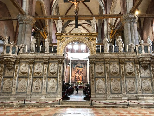 Best Things to Do in Venice:  Inside the Basilica dei Frari
