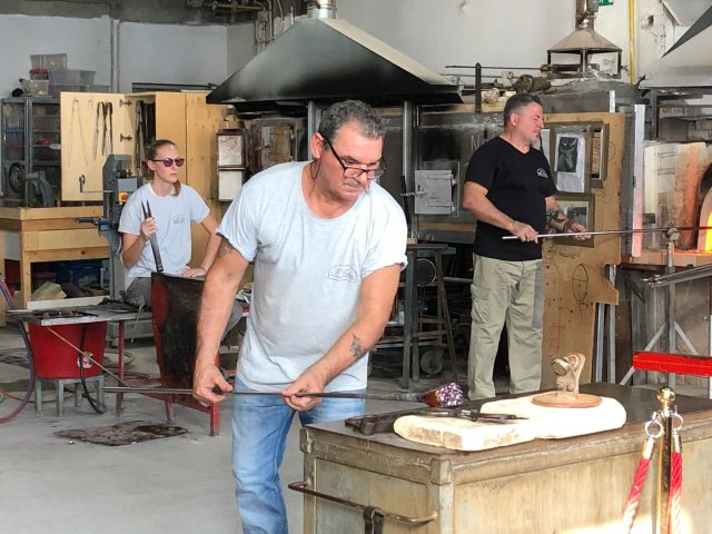 Best Things to Do Outside of Venice: the Maestro glassblower at LP Murano Glass Factory