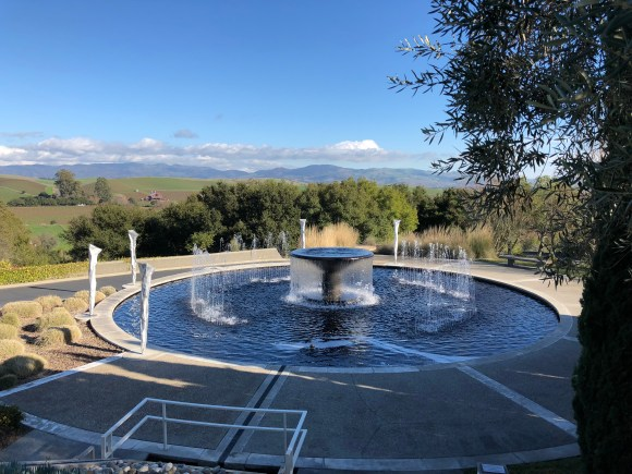 Napa Valley Wine Tour:  View from the entrance at Artesa