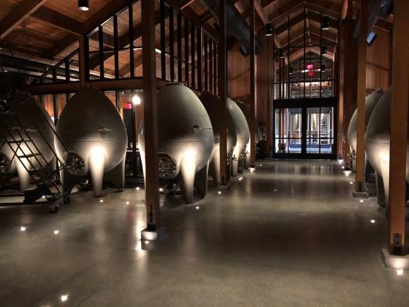 Napa Valley Wine Tour:  Steel fermentation tanks at Cakebread Cellars