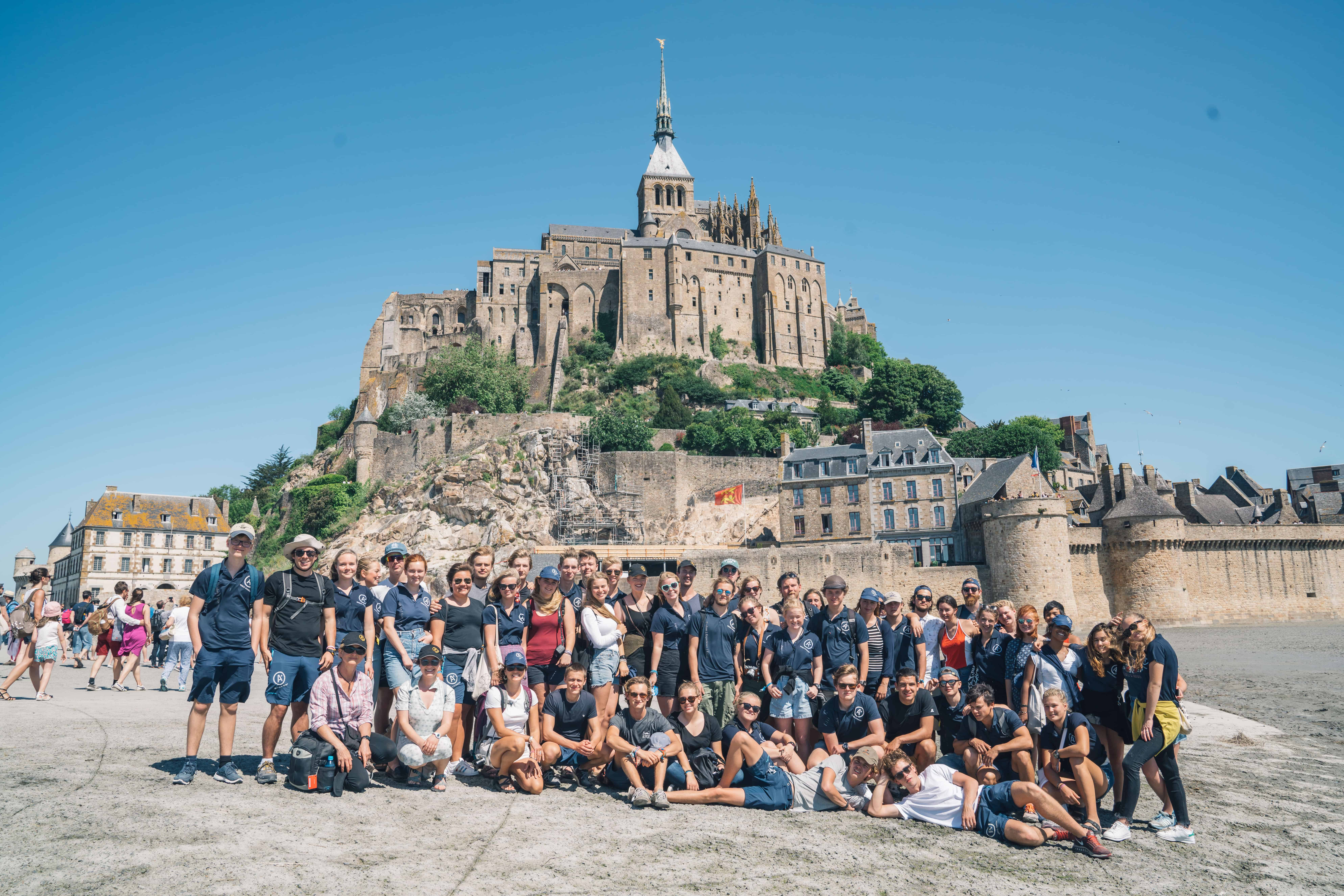 2017 May Saint Malo France Group Photo in Front of Mont Saint Michel