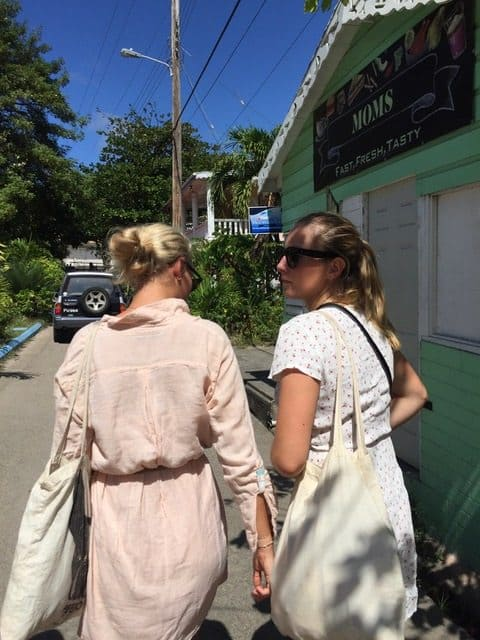 2018 january 18. Vilde and Synne exploring Bequia. Photo by Nicolea Tvedten