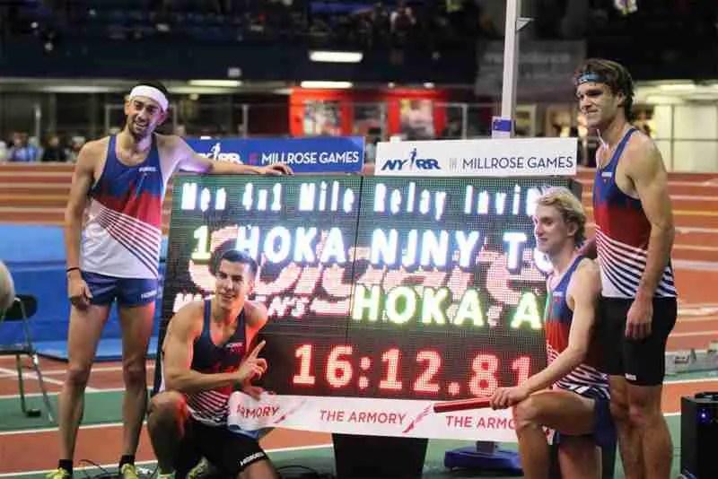 4x mile world record team