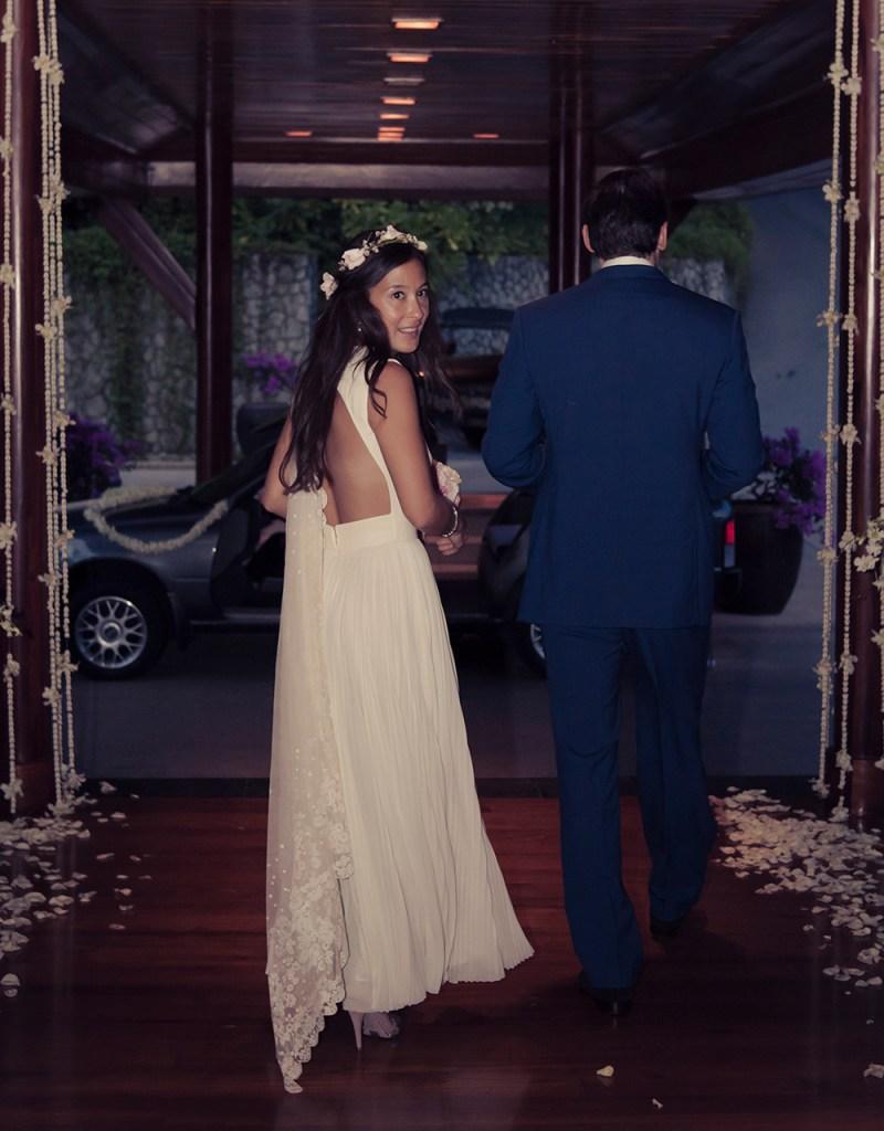 Madeleine Thompson's wedding dress.