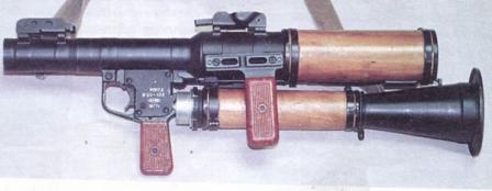 RPG-7D antitank grenade launcher (version for airborne troops), disassembled for transportation / airdrop.