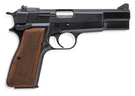 Browning High Power - modern commercial version with ajustable sights and ambidextrous safety.