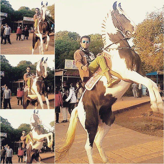 Faraaz Kazi on horse