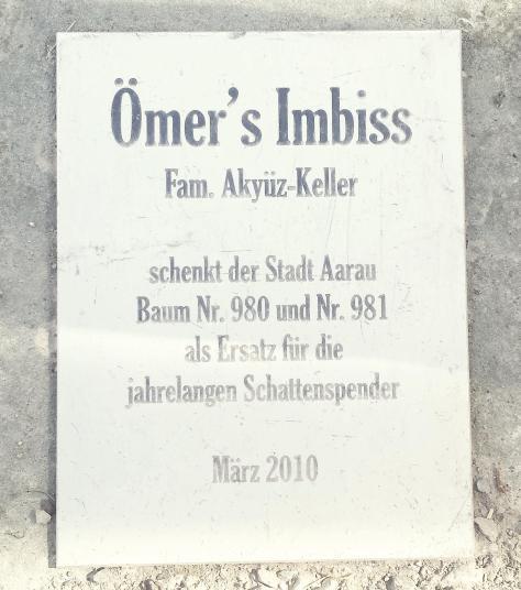 Ömer's Imbiss Baumspende