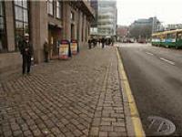 ヘルシンキ市内の道