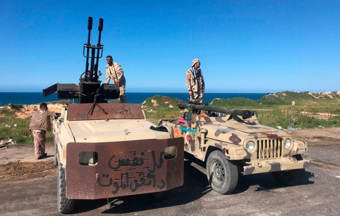 Forces loyal to Libya's United Nations-backed unity government in Tajura, a coastal suburb of Tripoli, the capital, on Saturday.