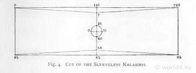 Sleeveless Kalasiris. How to wear ancient Egypt costumes.