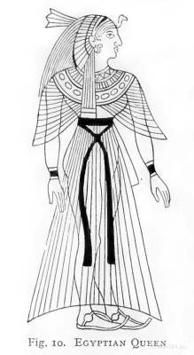 Ancient Egypt Queen dress. How to wear ancient Egypt costumes.