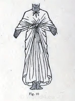 Ancient Egypt robe costume. How to wear ancient Egypt costumes.