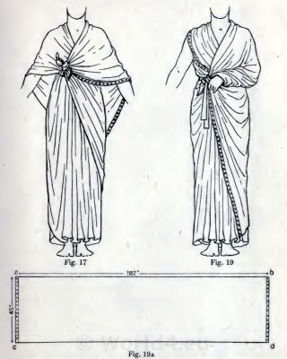 The Egyptian cloak. How to wear ancient Egypt costumes from 1600 B.C..