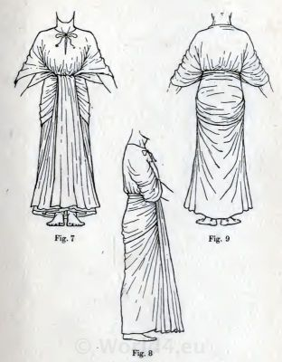Ancient Egypt costume draped robe. How to wear ancient Egypt costumes.