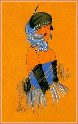 Séduction Altière. Art deco era headdresses. Cloche hats, Flapper, Gatsby fashion.