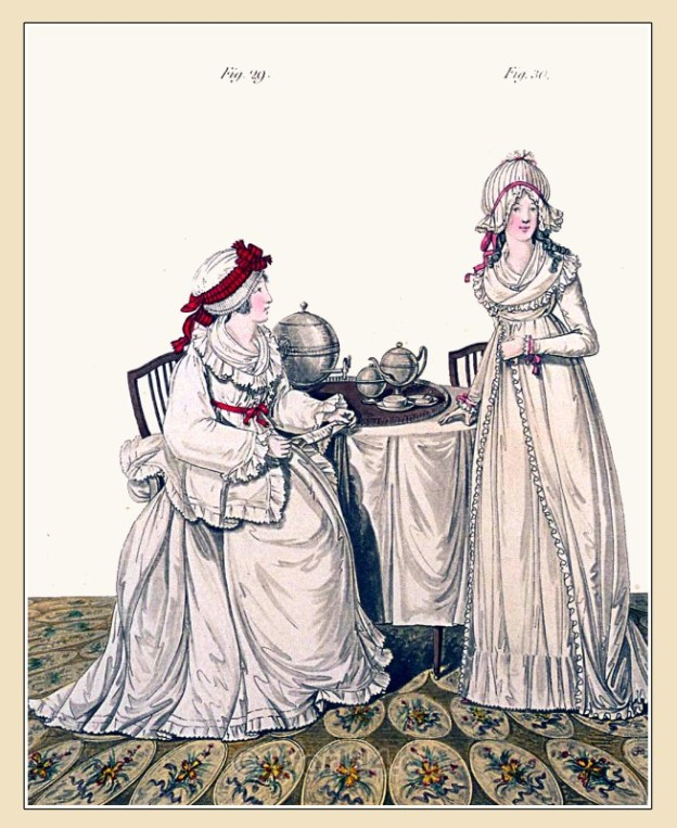 Heideloff, Regency, Neoclassical, Gallery, Fashion, Costumes, dressing