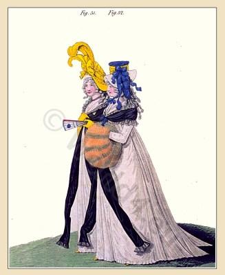 Gallery of Fashion. Neoclassical fashion. Jane Austen costume. Empire fashion.