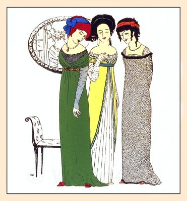 Couturier Paul Poiret, Art Nouveau Costumes, French Vintage Haute Couture Fashion