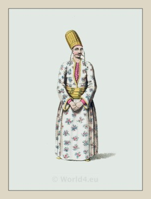 Page costume. Turkish Sultan. Dragoman dress. Historical Turkish costumes. Ottoman empire