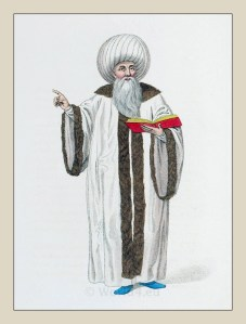The Mufti of Istanbul. Ottoman empire historical clothing