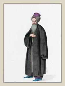 Traditional Jewish man clothing. Ottoman Empire Costume