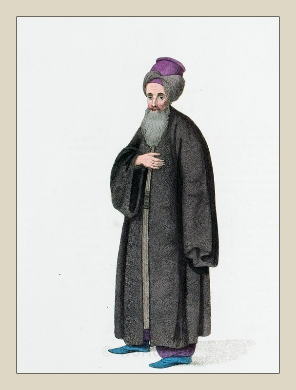 Traditional Jewish man clothing. Ottoman Empire Costume