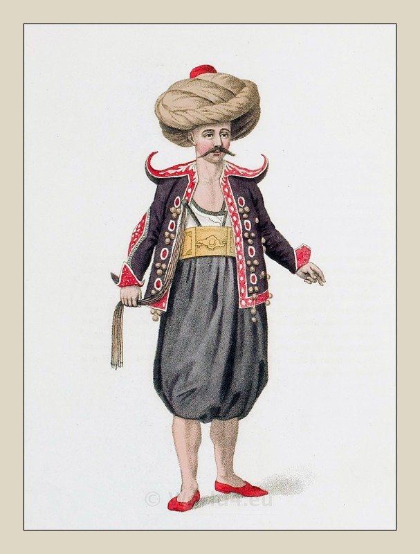 Turkish Water carrier. Ottoman empire historical clothing