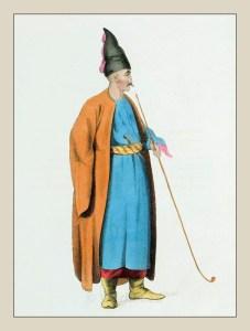 Traditional Albania national costume. Shqiperia dress Ottoman Empire. Octavian Dalvimart.