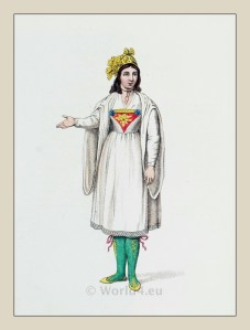 Greek traditional costume. Woman of Naxos island in official dress.