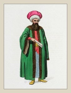Turkish empire clothing. Ottoman Empire costume. Traditional islam, Mohammedan dress